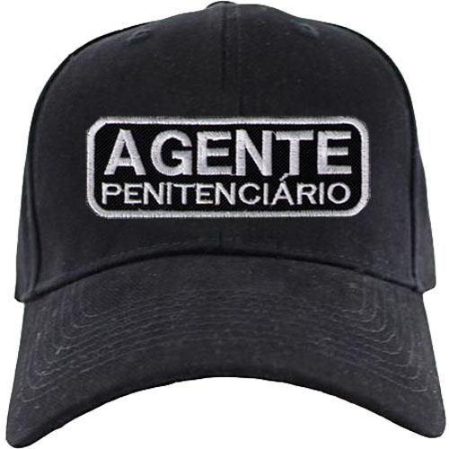 BONÉ BORDADO NOME - AGENTE - AGENTE PENITENCIÁRIO
