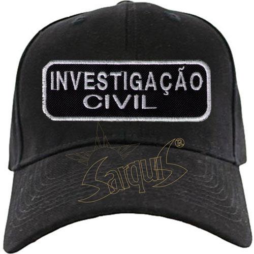BONÉ BORDADO NOME - DETETIVE - INVESTIGADOR CRIMINAL - INVESTIGAÇÃO CIVIL