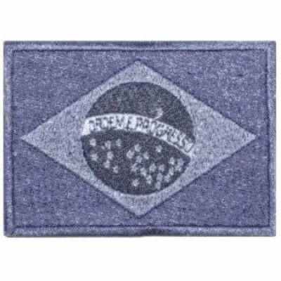 BORDADO PATCHES - BANDEIRA DO BRASIL CINZA