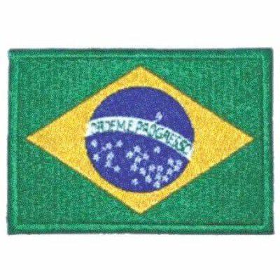 BORDADO PATCHES - BANDEIRA DO BRASIL GRANDE CINZA OU VERDE