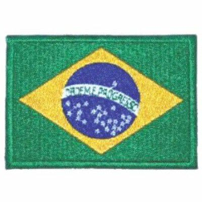 BORDADO PATCHES - BANDEIRA DO BRASIL PEQUENA