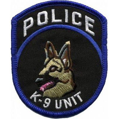BORDADO PATCHES - K-9 UNIT POLICE