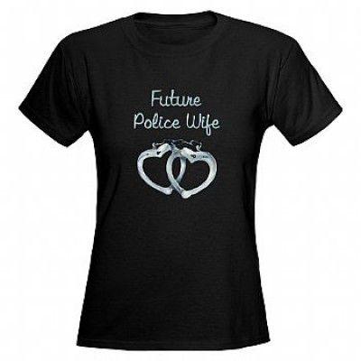 CAMISETA MILITAR FEMININA - Future Police Wife