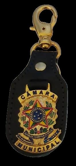 CHAVEIRO COURO - BRASÃO DA REP OU CÂMARA MUNICIPAL VEREADOR