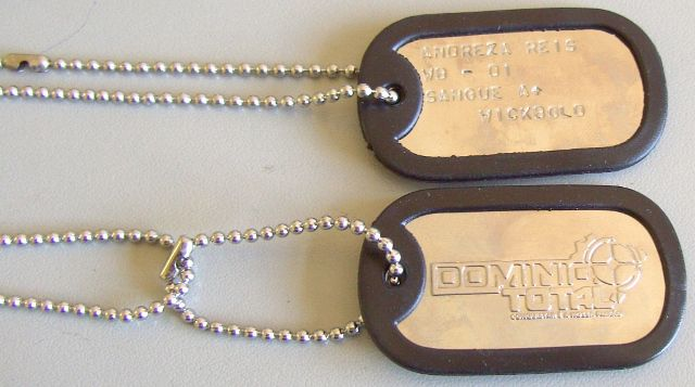 DOG TAGS - CUSTOMIZADA