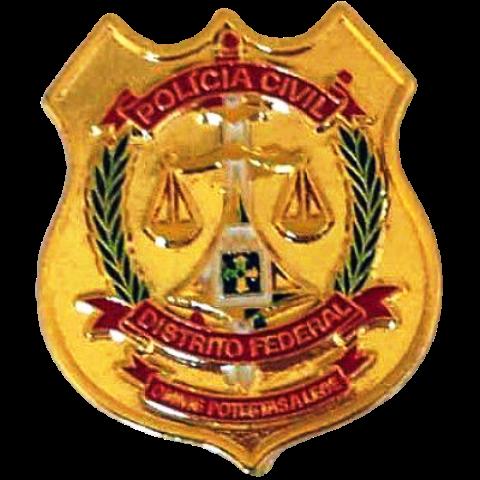 PIN BRASÃO - POLÍCIA CIVIL DISTRITO FEDERAL