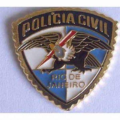 PIN BRASÃO - POLÍCIA CIVIL RIO DE JANEIRO ÁGUIA