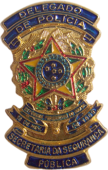 PIN BRASÃO - POLÍCIA CIVIL SÃO PAULO DELEGADO