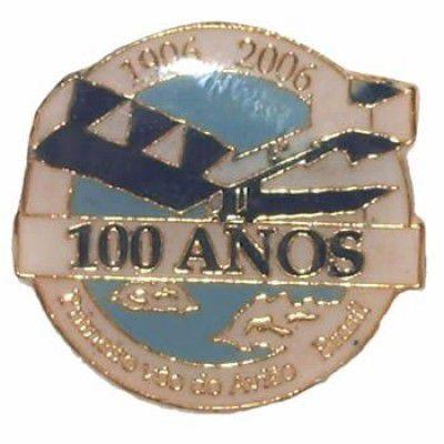 PIN COLORIDO - 100 ANOS 14 BIS SANTOS DUMONT