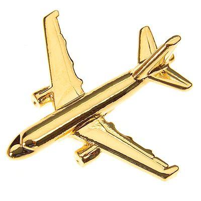 PIN DOURADO AVIÃO - AIRBUS A320 - (1C)