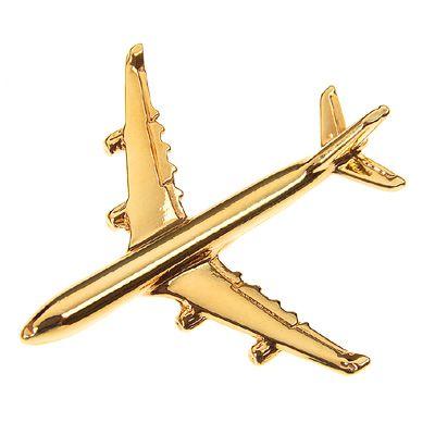PIN DOURADO AVIÃO - AIRBUS A340 - (1E)