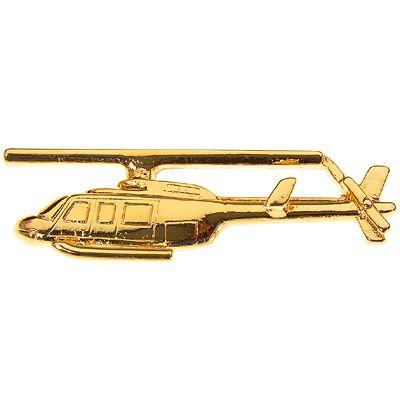 PIN DOURADO - Bell 206 Longranger (18C)
