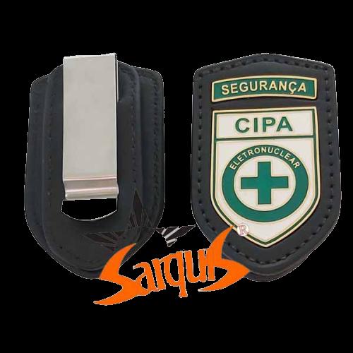 PORTA DISTINTIVO EM COURO - CIPA SEGURANÇA