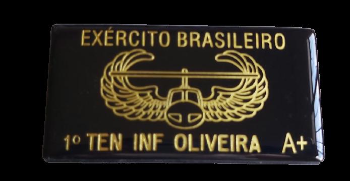 TARJETA EM COURO - PILOTO HELICÓPTERO