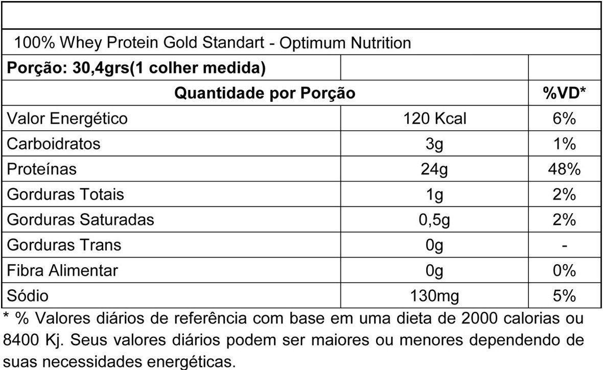 100% WHEY GOLD STANDARD 6LBS (2,9KG) - + CAMISA OPTIMUM NUTRITION