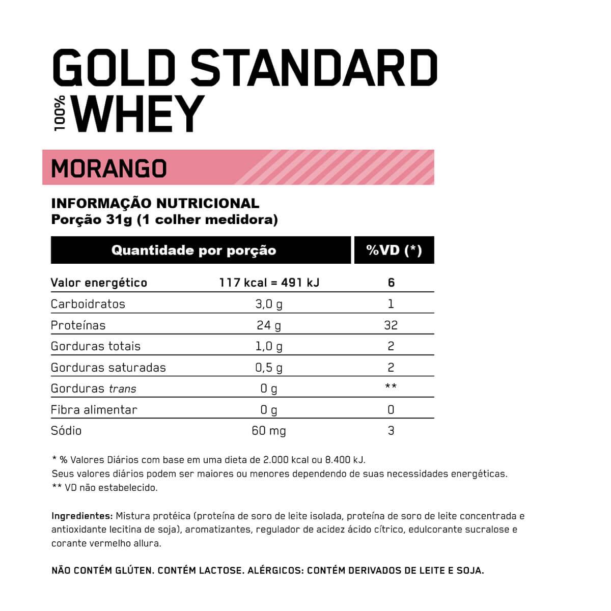 Whey protein gold standard 900g Optimum nutrition