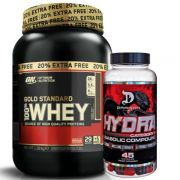 100% Whey Gold Standard 2.4lbs + Hydra 45 Caps