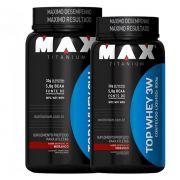 2un Top Whey 3w 900g - Max Titanium