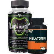 Black Mamba 90 Caps  Innov-ative Labs + Melatonina ON 3mg 100 Caps - Optimum Nutrition