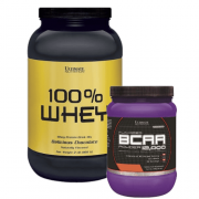 Combo 100% whey protein 908G + bcaa 12000 powder 228g ultmate nutrition