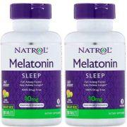 Combo:2 x Melatonina Natrol 10mg / 100 capsulas sono avançado, liberação prolongada