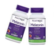 Combo: 2x Melatonina Natrol  5 mg/ 90  tabletes -Liberação Prolongada, Força Extra