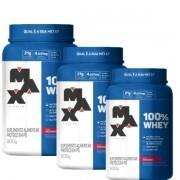 Combo: 3x 100% WHEY 900g Max Titanium