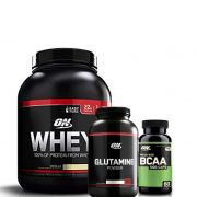 Combo: On Whey (2,04Kg) +glutamine 300g +bcaa 60 caps - Optimum Nutrition
