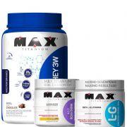 Combo:Top whey 3w performance 900g+L.G glutamina 300 g +bcaa drink 280 g -max titanium
