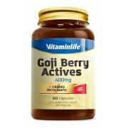 Goji Berry Actives Goji Berry com Cromo em  60 cápsulas Vitaminlife