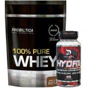 Hydra 45 Caps - Dragon Pharma+ 100% Pure Whey 825g - Probiotica