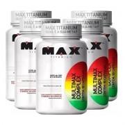 KIT 5X Multimax Complex 90 Cáps - Max Titanium