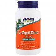 L-Optizinc 30mg 100 Caps - Now Foods