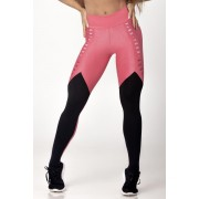 Legging Light Fitness Brilhante com Preto