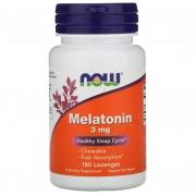 Melatonina 3mg  180 cápsulas Now Foods