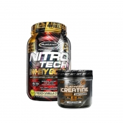 Nitrotech  100% whey gold muscletech 999G + creatina 400G