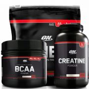 On Whey Refil 100% 1,82lbs + BCAA 300g Black Line + Creatine 300g Black Line
