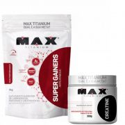 Super Gainers Anticatabolic 3kg  + CREATINA 300G -  MAX TITANIUM