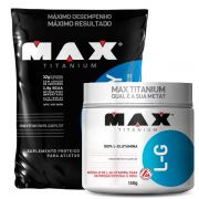 Top Whey 3W 1,8kg + L-G Glutamina 300g – Max Titanium