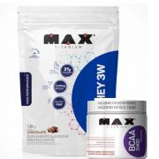 TOP WHEY 3W MAIS PERFORMANCE  1,8 KG + BCAA 2.400 mg 450 caps- MAX TITANIUM