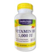 Vitamin D3 5,000 IU Healthy Origins