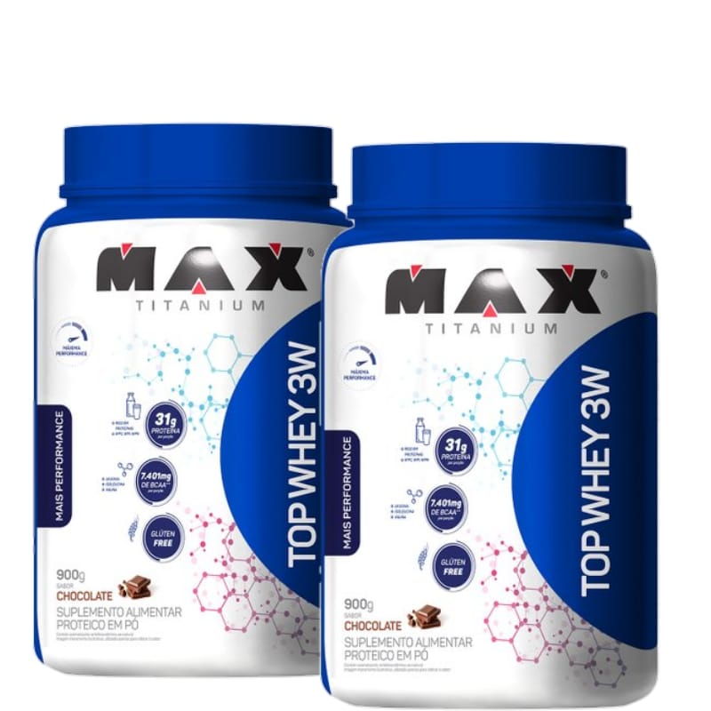 2un Top Whey 3w  performance  900g - Max Titanium