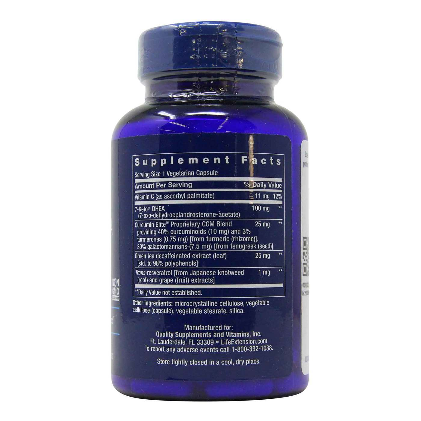 7-keto Dhea metabolite 100mg LIFE EXTENSION