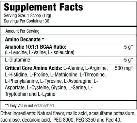 Amino Decanate 384g - MuscleMeds