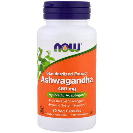 Ashwagandha  450 mg (90 CÁPSULAS) - NOW FOODS