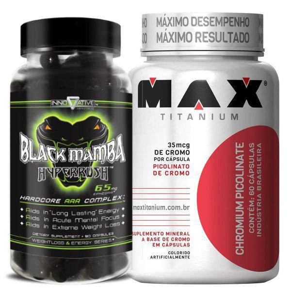 Black Mamba 90 Caps - Innovative Labs + Picolinato de Cromo -Max Titanium