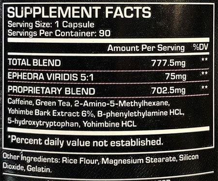 Black Viper 90 Caps (novo) - Dragon Pharma