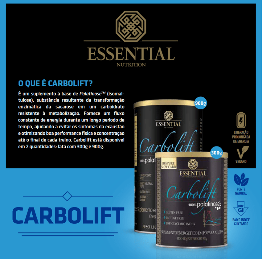 CARBOLIFT  900g | 60 porções Essential nutrition