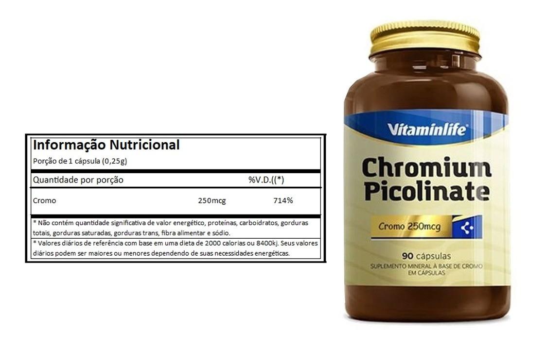 Chromium Picolinate 60 cápsulas Vitaminlife