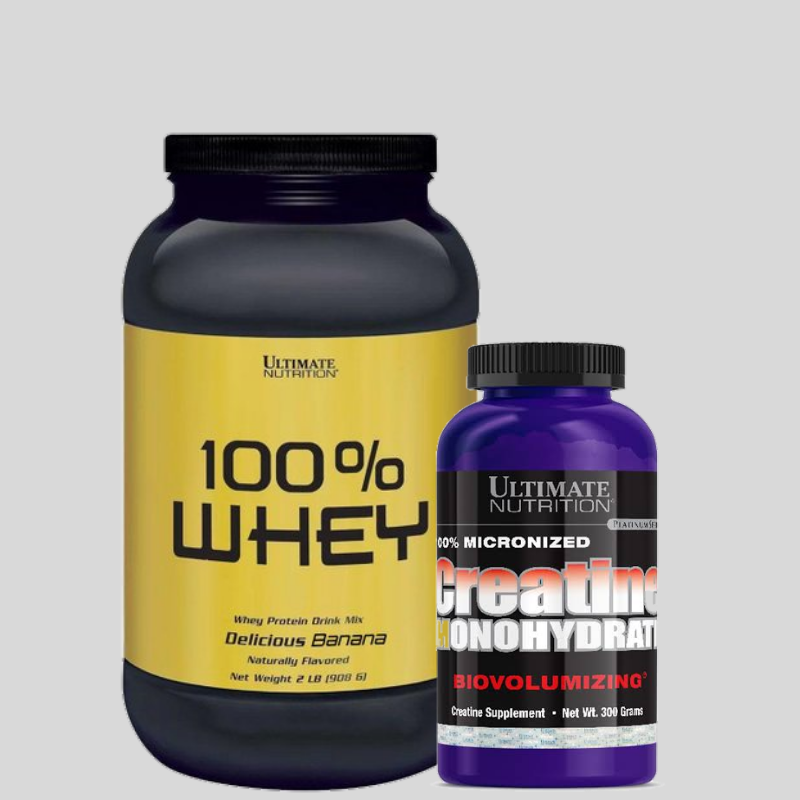 combo 100% WHEY PROTEIN 908G - ULTIMATE NUTRITION +CREATINA 300G - ULTIMATE NUTRITION